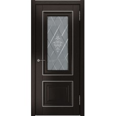 Межкомнатные двери ЛУ-62 Дуб тёмный