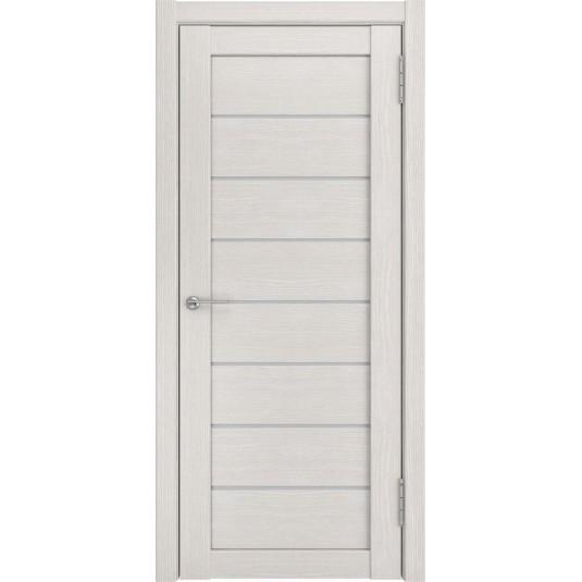 Межкомнатные двери ЛУ-7 беленый дуб (белый триплекс)
