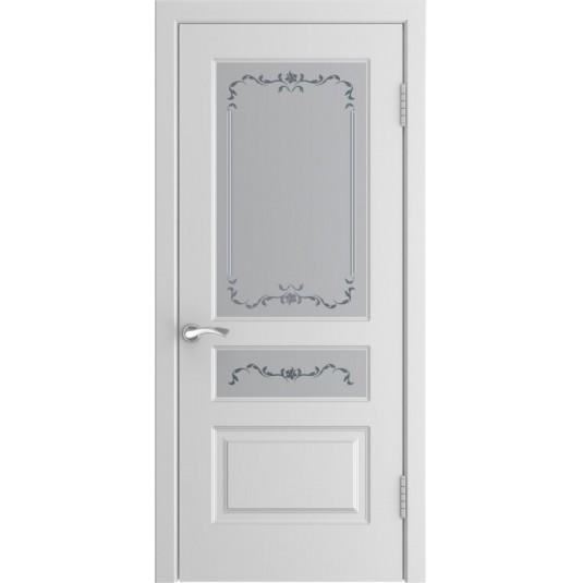 Межкомнатные двери Модель L-2 ДО белая эмаль