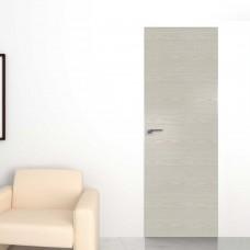 Скрытая дверь 1NK дуб скай белёный с алюминиевой кромкой и внешним открыванием