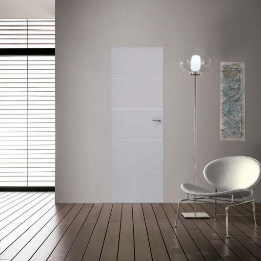 Скрытая дверь 7E манхэттен с алюминиевой кромкой и внешним открыванием