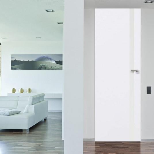 Скрытая дверь 6E аляска с алюминиевой кромкой и внешним открыванием