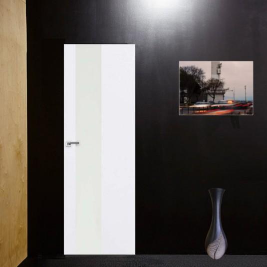 Скрытая дверь 5E аляска с алюминиевой кромкой и внешним открыванием