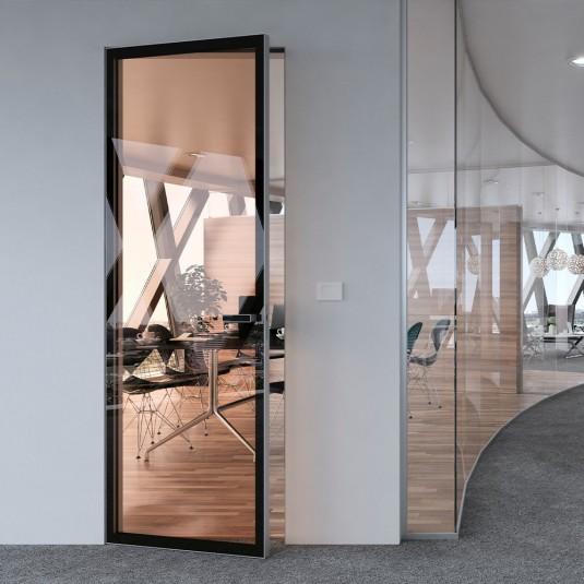 Скрытая дверь Atlantise Diamond с прозрачным стеклом и внешним открыванием