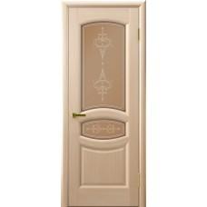 Межкомнатные двери АНАСТАСИЯ (белый дуб, стекло)
