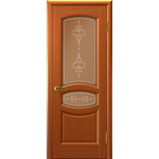 Межкомнатные двери АНАСТАСИЯ (Темный Анегри Т74, стекло)