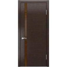 Межкомнатные двери АРТ-3 (лакобель) (Мореный дуб)