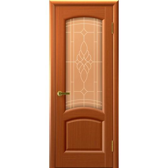 Межкомнатные двери Лаура (темный Анегри, стекло)