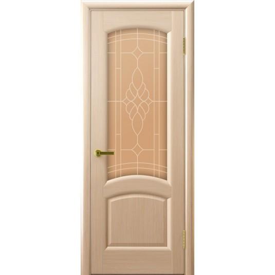 Межкомнатные двери Лаура (беленый дуб, стекло)