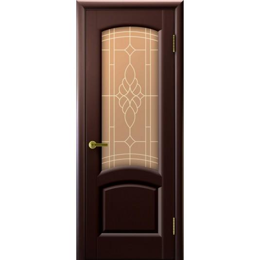 Межкомнатные двери Лаура (венге, стекло)