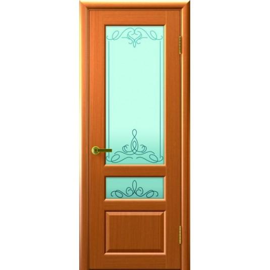Межкомнатные двери ВАЛЕНТИЯ 2 (Светлый Анегри Т34, стекло)