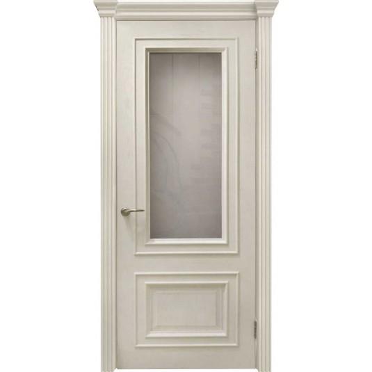 Межкомнатные двери Венера (багет, дуб карамель, стекло)