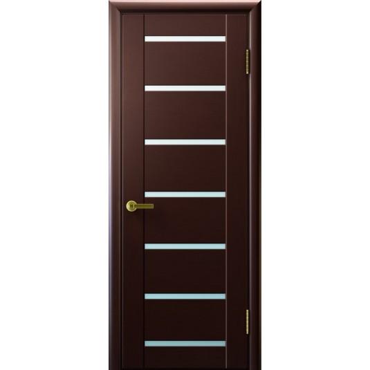 Межкомнатные двери Осирис (венге, стекло белое)