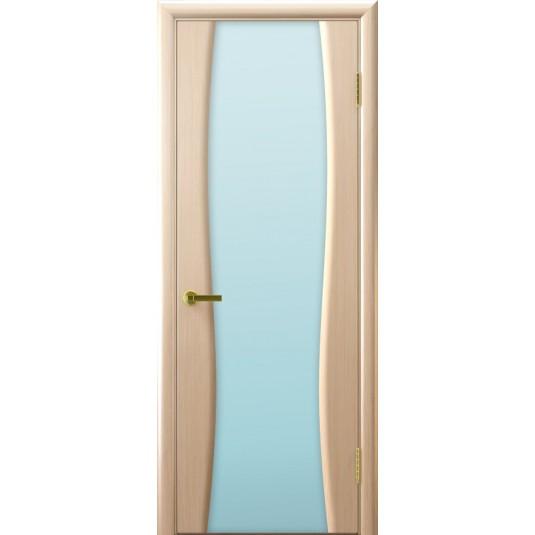 Межкомнатные двери Клеопатра 2 (беленый дуб стекло белое)