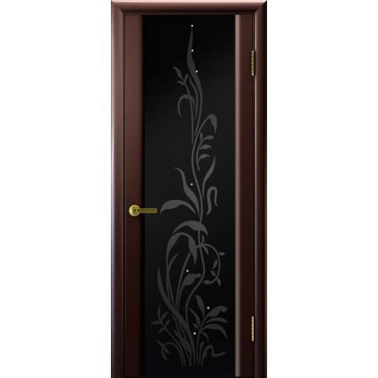 Межкомнатные двери Трава 2 (венге, стекло)