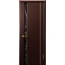 Межкомнатные двери Трава 1 (венге, стекло)