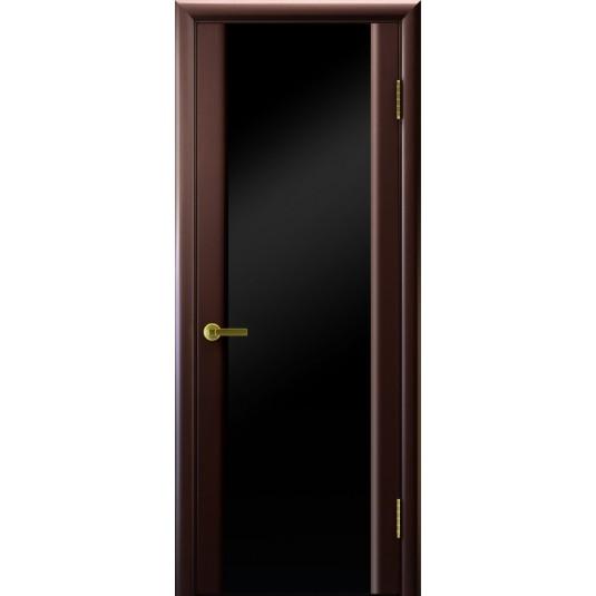 Межкомнатные двери СИНАЙ 3 (венге, стекло черное)