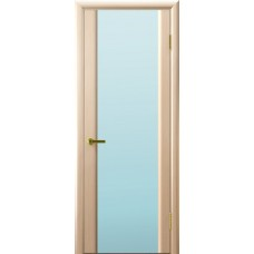 Межкомнатные двери Синай 3 (белый дуб, стекло белое)