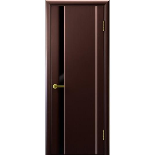 Двери СИНАЙ 1 (венге, стекло черное)