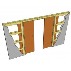 Пенал для двух раздвижных дверей