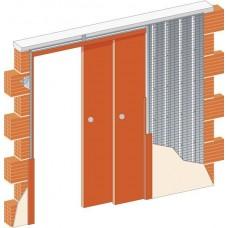 Пенал для двух раздвижных дверей телескопический