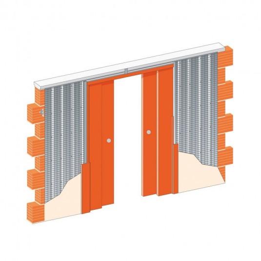 Пенал для двух раздвижных дверей из двух полотен
