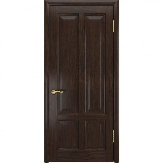 Межкомнатная дверь шпонированная Luxor Титан 3 дуб морёный глухая