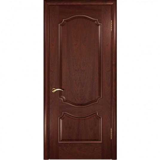Межкомнатная дверь шпон Luxor Венеция красное дерево глухая