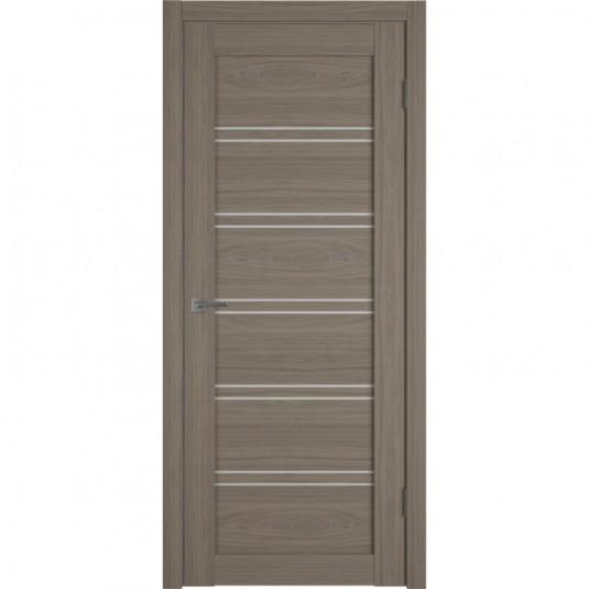 Дверь ВФД Atum Pro 28 Brun Oak стекло сатинат белый