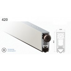 Автопорог-уплотнитель дверной врезной Venezia 420/930 мм, регулировка 1 уровень