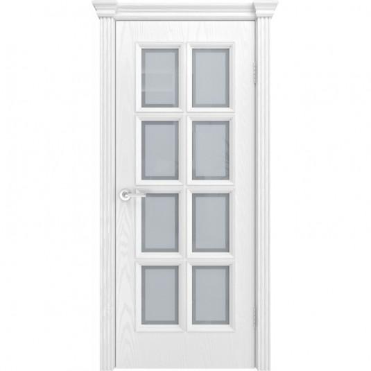 Дверь шпонированная Текона Фрейм 09 ДО Ясень белоснежный