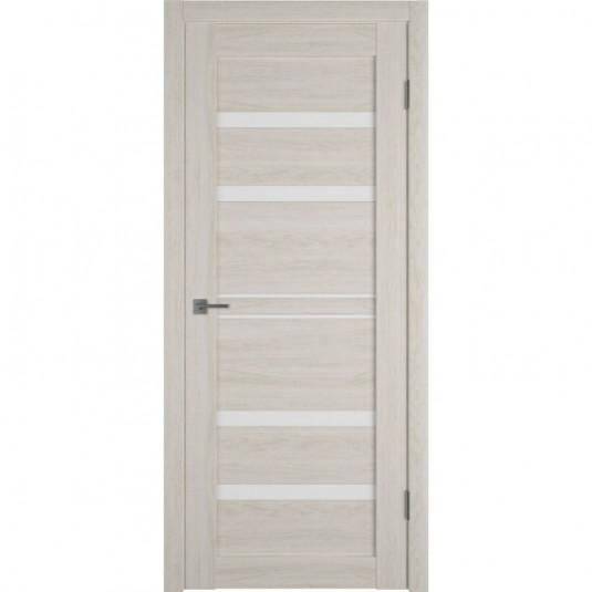 Дверь ВФД Atum Pro 26  Scansom Oak стекло сатинат белый