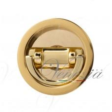 Ручка для раздвижной/распашной двери на круглом основании VENEZIA U155 блестящее золото