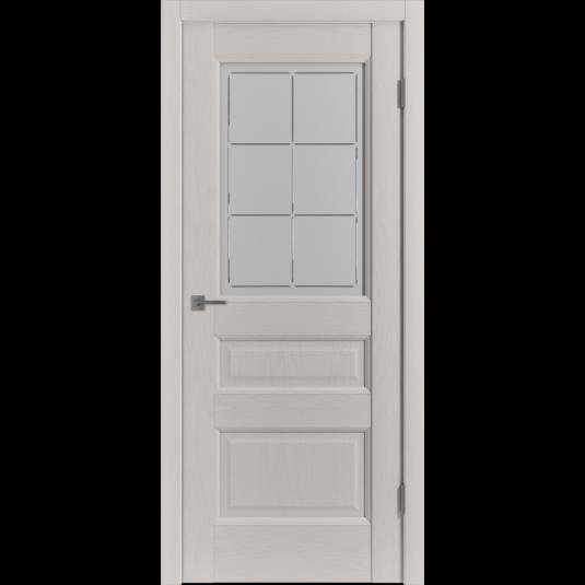 Дверь ВФД Classic Trend Trend 3 Fleet Soft со стеклом сатинат с алмазной гравировкой