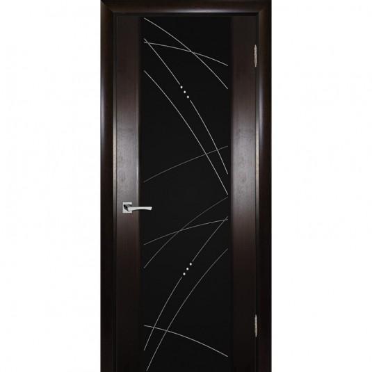 Дверь шпонированная Текона Страто 02 ДО Тонированный черный дуб