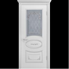 Дверь BP-DOORS Ария Грейс 2 B3  ДО2  Эмаль Белая патина серебро