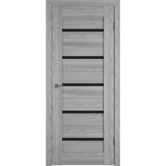 Дверь ВФД Line Л1ПГ2 Grey oak стекло ультра черное