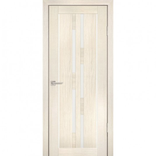 Дверь Profilo Porte PS-33 Эшвайт мелинга со стеклом Сатинат