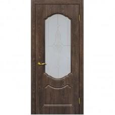 Дверь ПВХ Мариам Сиена 2 ДО Дуб корица