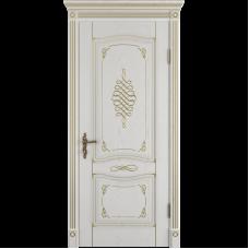Дверь ВФД Classic Art Vesta Bianco Classic с золотой патиной