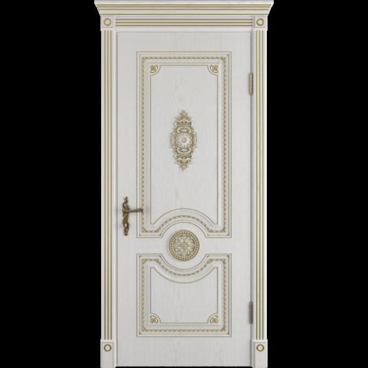 Дверь ВФД Classic Art Greta Bianco Classic с золотой патиной