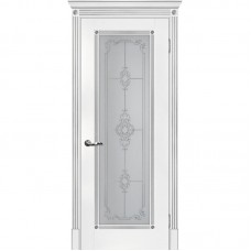 Дверь экошпон Мариам Флоренция-1 ДО Белый патина серебро