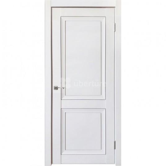 Дверь ПВХ Uberture Деканто ПДГ 1 ДГ Barhat white