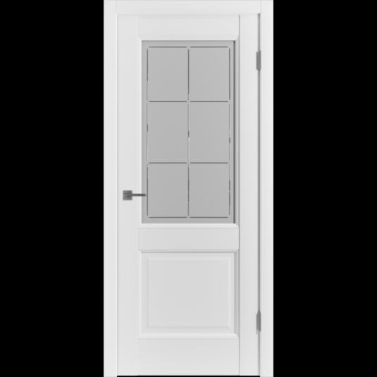 Дверь ВФД Emalex Emalex 2 Emalex Ice белое сатинированное стекло с алмазной гравировкой