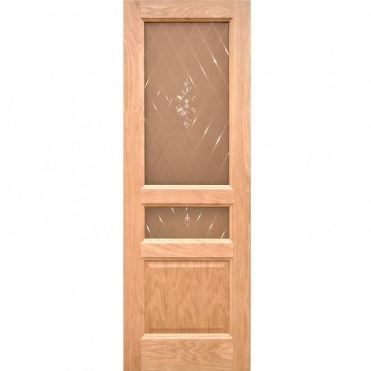 Дверь шпонированная Дворецкий Готика ДО натуральный дуб