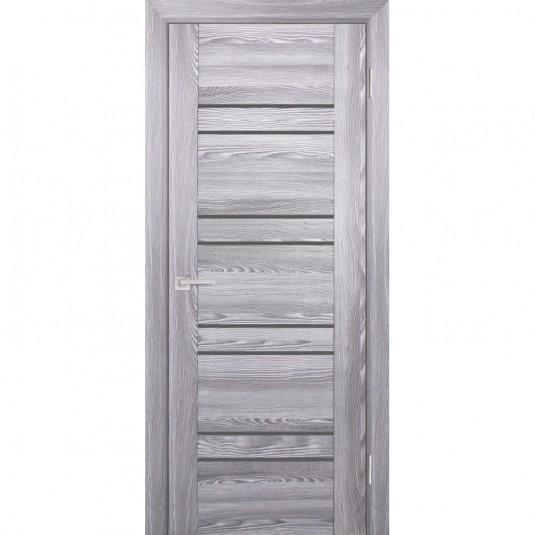Дверь Profilo Porte PSK-1 ДО Ривьера грей со стеклом Серый Лакобель