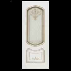 Дверь BP-DOORS Соло Грейс B4 ДО2 Эмаль Белая патина белое золото