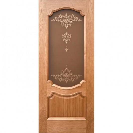 Дверь шпонированная Дворецкий Венеция 3 ДО натуральный дуб