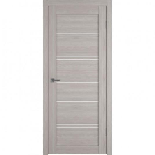 Дверь ВФД Atum Pro 28 Stone Oak стекло сатинат белый