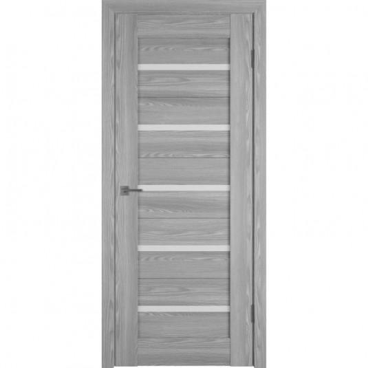 Дверь ВФД Line Л1ПГ2 Grey oak стекло ультра белое